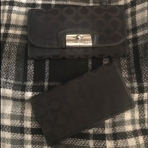 Authentic coach wallet and check book holder